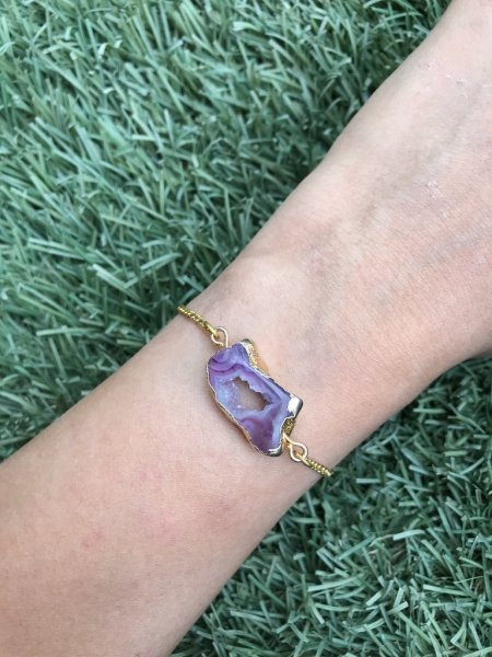 Agate Bracelet - Purple