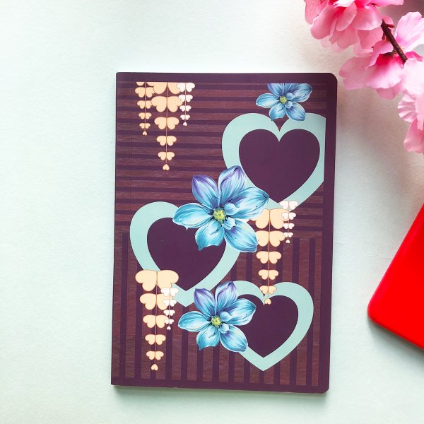 Hearts & Flowers Notebook