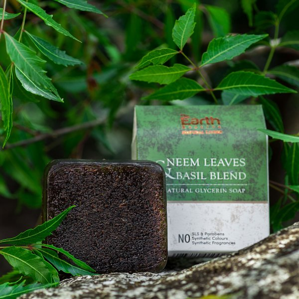 Neem Leaves & Basil Blend Natural Glycerin Soap