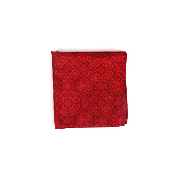 Opulent Solid Tone Pocket Square, Deep Red