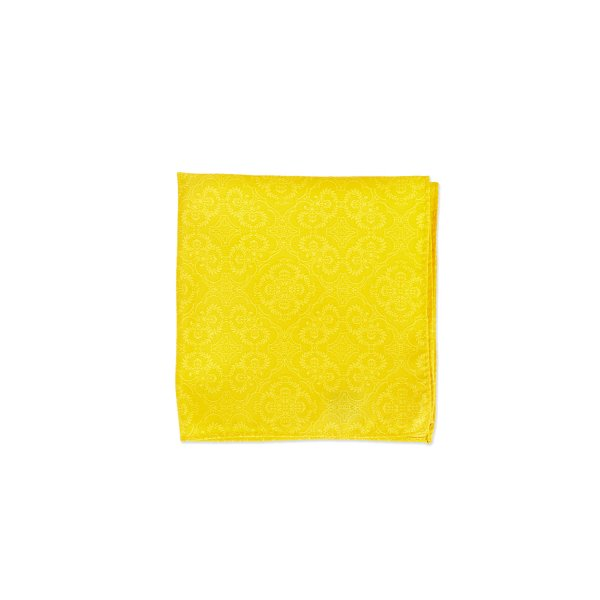 Opulent Solid Tone Pocket Square, Yellow