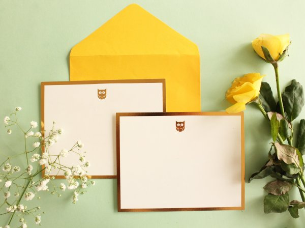 Owl Monogram Card + Envelope