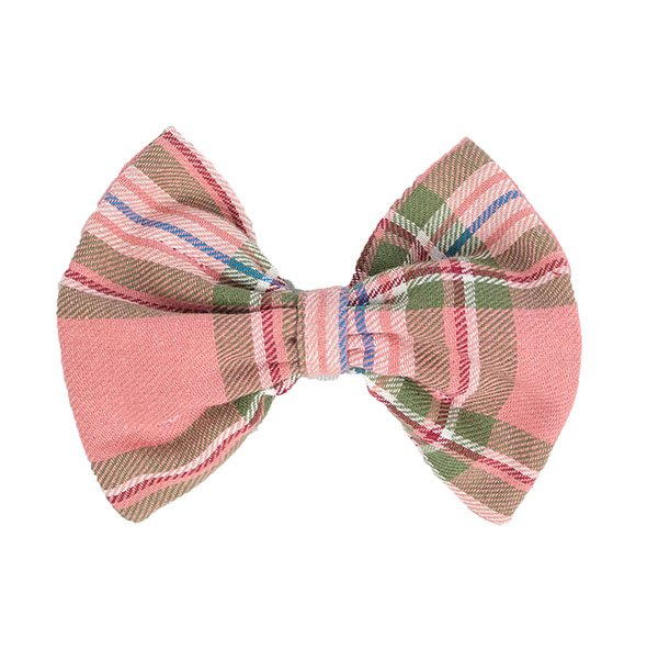 Pink Plaid Slider Bow