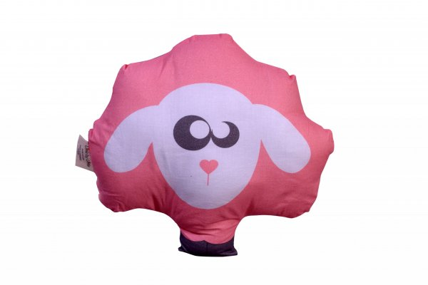 Plush Lily The Sheep Pillow, Pink