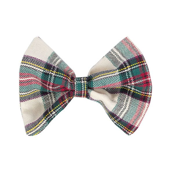 Red and White Plaid Slider Bow