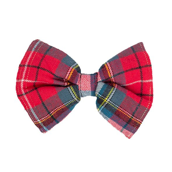 Red Plaid Slider Bow