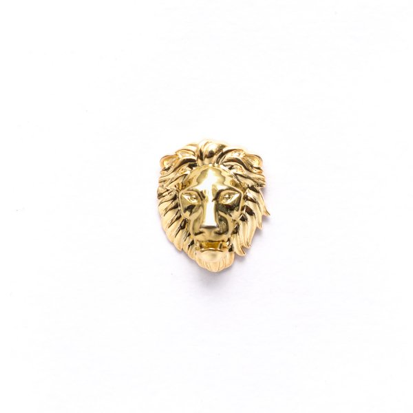 Royal Poised Lion Head Lapel Pin