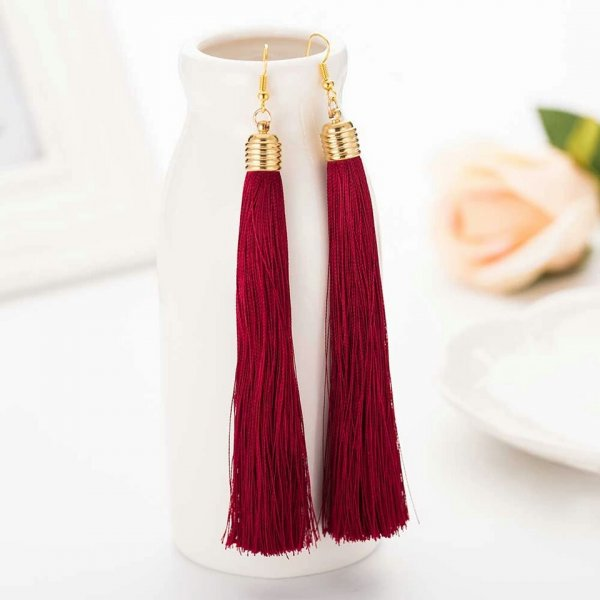 Samaira Maroon Earrings