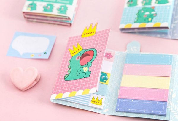Sticky Notes - Folding Book - Dinosaur
