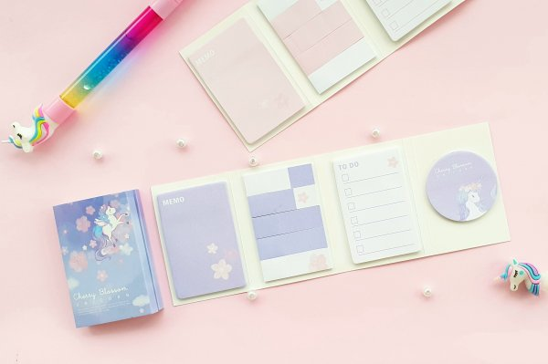Sticky Notes - Folding Book - Magical Unicorn