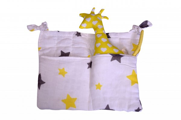 Starry Cot Bag, White