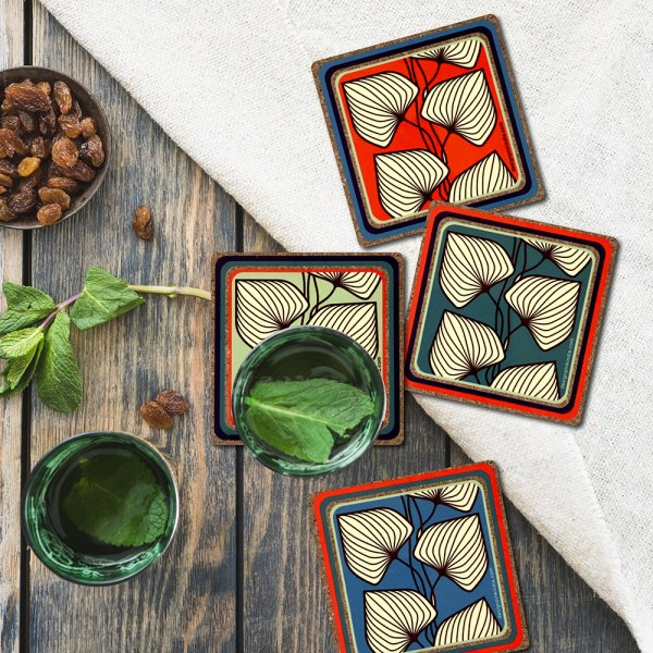 Indian Leaves  Coasters