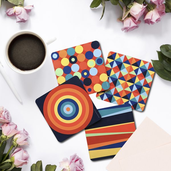 Crazy Colors Coasters
