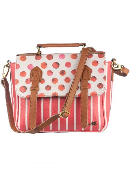 The Polka Stripe Satchel Bag