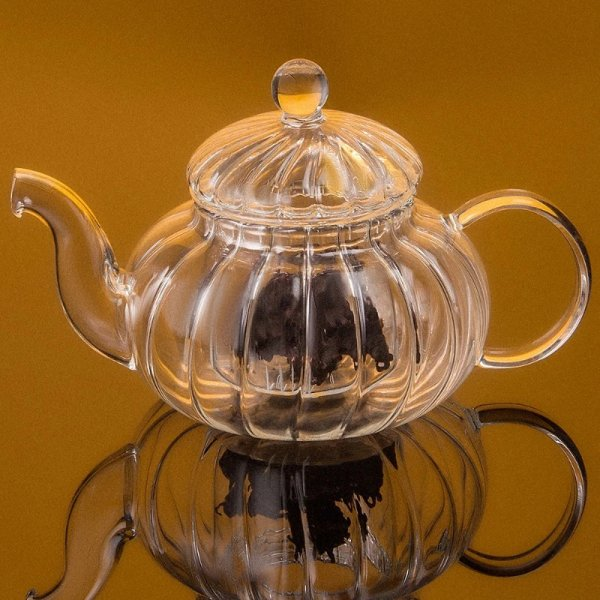 Heart of Glass Tea Pot