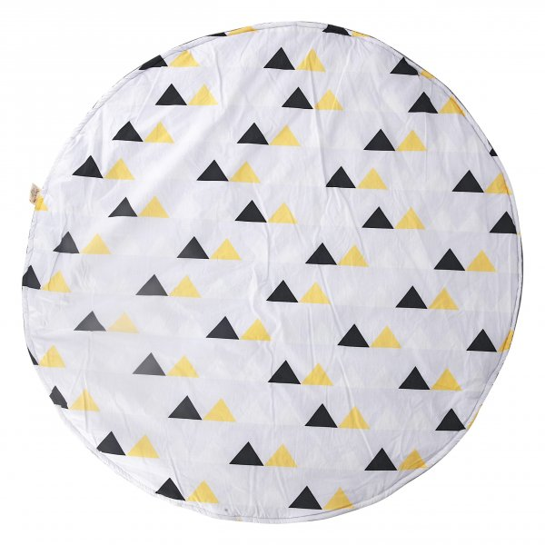 Triangles Baby Playmat, Grey