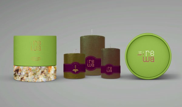 Tulsi Scented Pillar Candles - Box of 3