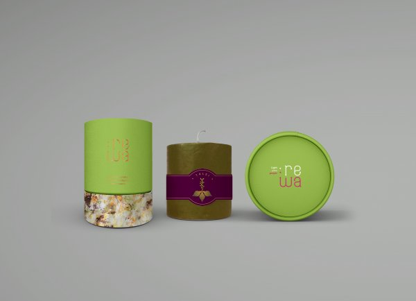 Tulsi Scented Pillar Candle