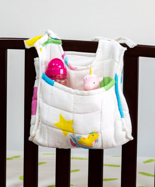 Unicorn Cot Bag, White