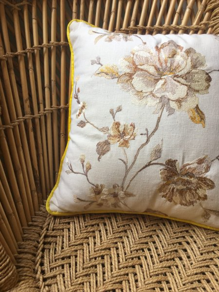 Vintage Inspired Floral Cushion Cover