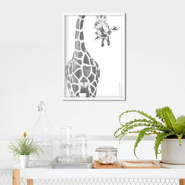 Peeking Giraffe - Wall Art