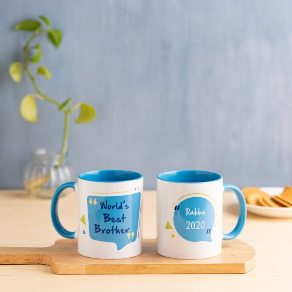 World's Best Brother Mug - Blue