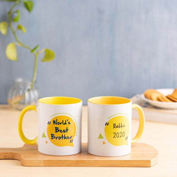 World's Best Brother Mug - Yellow