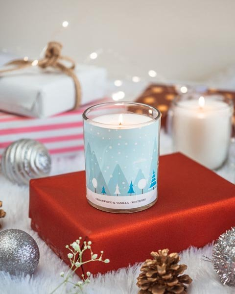 Let It Snow Wood Wick Candle