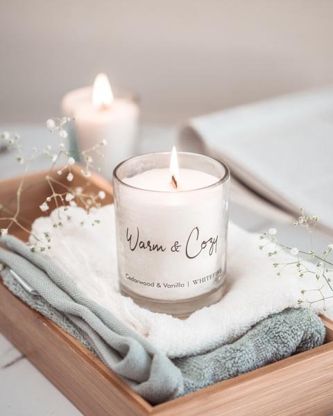 Warm & Cozy Wood Wick Candle