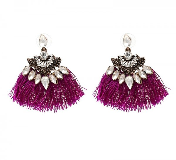 XOXO Magenta Earrings
