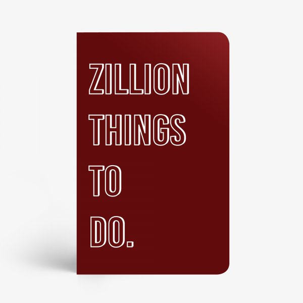 Zillion Things To Do Notebook